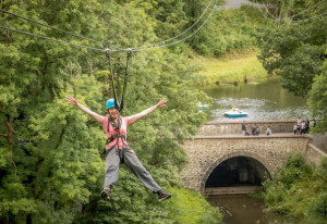 Ireland's longest zip wire in Castlecomer Discovery Park is over 300 meters long - YourDaysOut