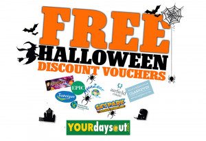 Save money on fun family days out during Halloween mid-term break with discount money saving coupons - YourDaysOut